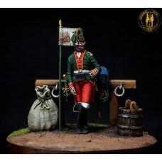 Фурьер первой гренадёрской роты Навагинского пехотного полка. 1763 г