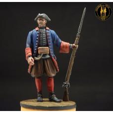 Фузелёр морского батальона 1719 г. Россия.