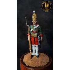 Гренадер Санкт-Петербургского пехотного полка 1740-50 г.г.