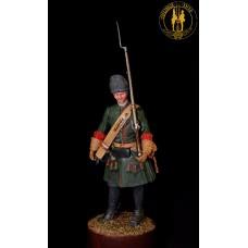 Гренадёр гвардии 1707-1712 в снаряжении для конного строя.