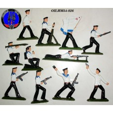 Моряки на учениях 11 штук (цветная роспись)