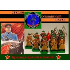 Красная армия в походе (цветная роспись)